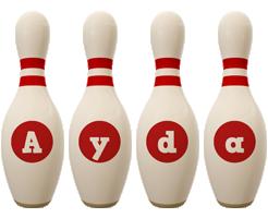 Ayda bowling-pin logo