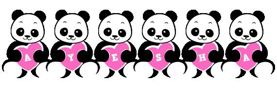 Ayesha love-panda logo