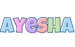 Ayesha pastel logo