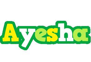 Ayesha soccer logo