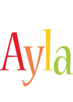 Ayla birthday logo