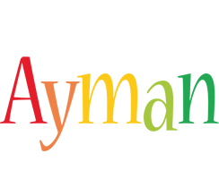 Ayman birthday logo