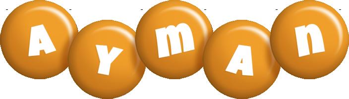 Ayman candy-orange logo