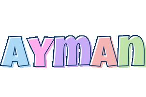 Ayman pastel logo