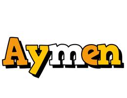 Aymen cartoon logo