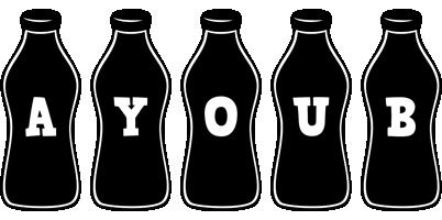 Ayoub bottle logo