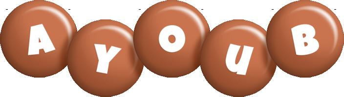 Ayoub candy-brown logo