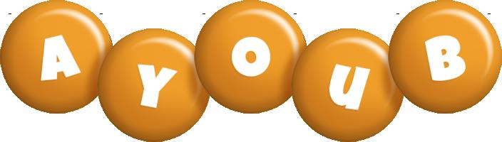 Ayoub candy-orange logo