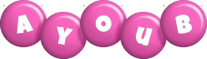 Ayoub candy-pink logo
