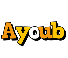 Ayoub cartoon logo