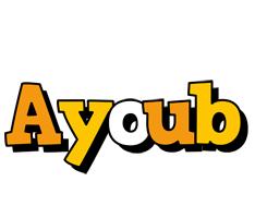 Ayoub cartoon logo