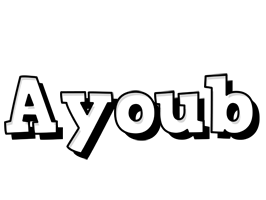 Ayoub snowing logo