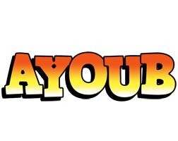 Ayoub sunset logo
