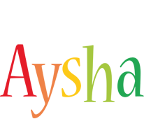 Aysha birthday logo