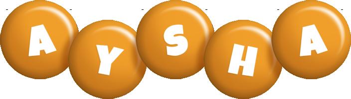 Aysha candy-orange logo