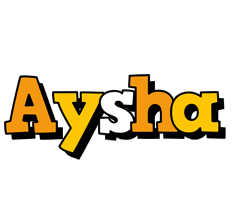Aysha cartoon logo