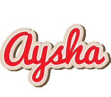 Aysha chocolate logo