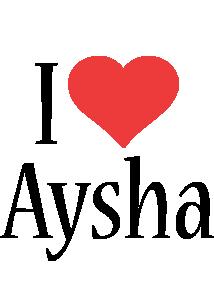 Aysha i-love logo