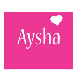 Aysha love-heart logo
