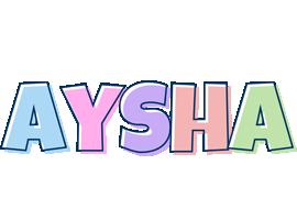 Aysha pastel logo