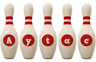 Aytac bowling-pin logo