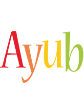 Ayub birthday logo
