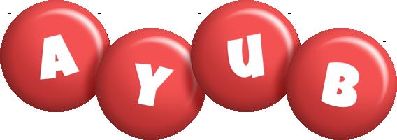 Ayub candy-red logo