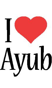 Ayub i-love logo