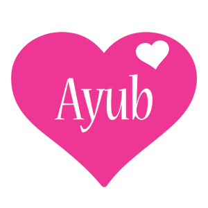 Ayub love-heart logo