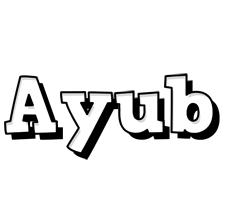 Ayub snowing logo