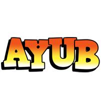 Ayub sunset logo