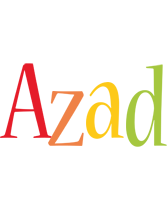 Azad birthday logo