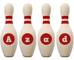 Azad bowling-pin logo