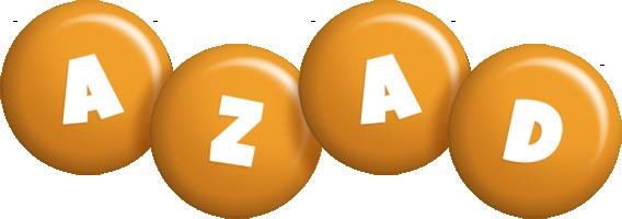 Azad candy-orange logo