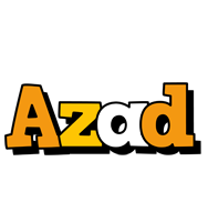 Azad cartoon logo
