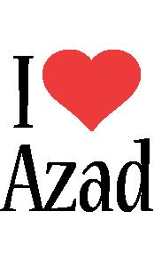 Azad i-love logo