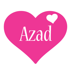 Azad love-heart logo