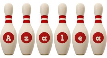 Azalea bowling-pin logo
