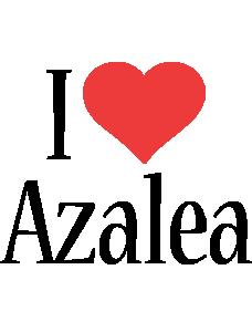 Azalea i-love logo