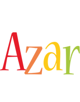 Azar birthday logo