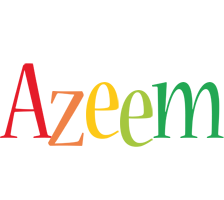 Azeem birthday logo