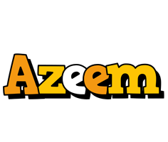 Azeem cartoon logo