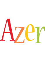 Azer birthday logo