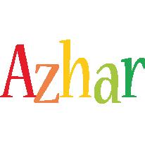 Azhar birthday logo