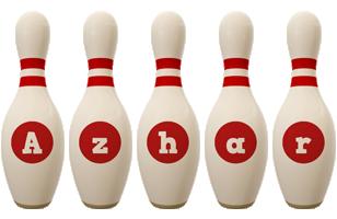 Azhar bowling-pin logo