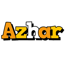 Azhar cartoon logo
