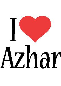 Azhar i-love logo