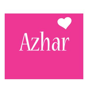 Azhar love-heart logo