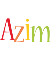Azim birthday logo