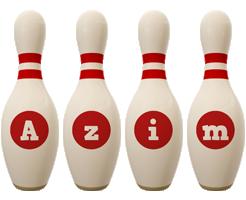 Azim bowling-pin logo